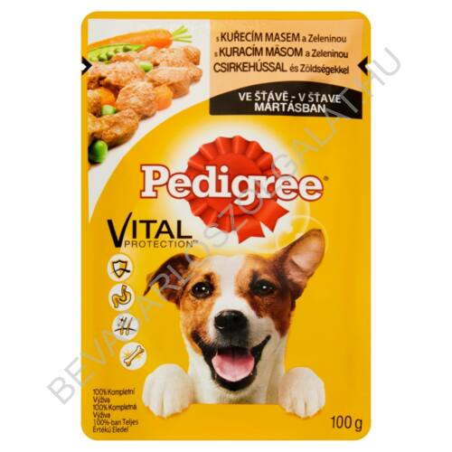 Pedigree Alutasakos Kutyaeledel Csirkehússal és Zöldségekkel Mártásban 100 g (#24)