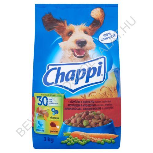 Chappi Száraz Kutyaeledel Marhahússal, Baromfihússal és Zöldségekkel 3 kg