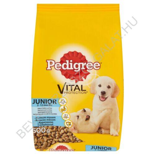 Pedigree Junior Száraz Kutyaeledel Csirkehússal 500 g