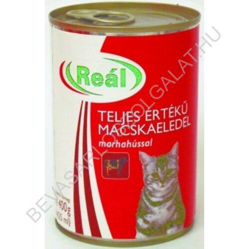 Reál Teljes Értékű Macskaeledel Marhahússal konzerv 415 g (#24)