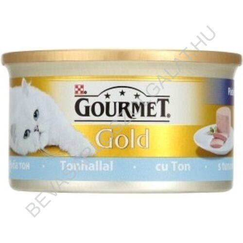 Gourmet Gold Macskaeledel Konzerv Pástétom Tonhallal 85 g