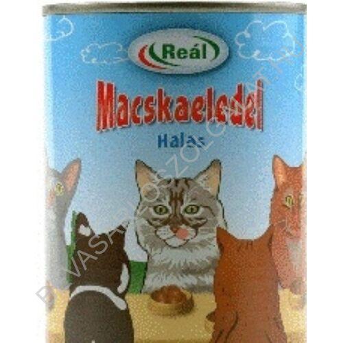 Reál Teljes Értékű Macskaeledel Hallal konzerv 415 g (#24)