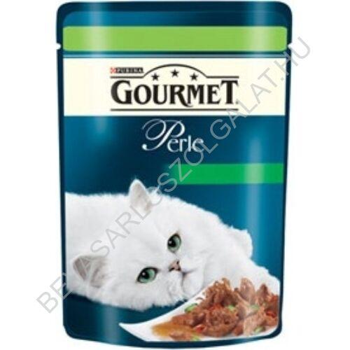 Gourmet Perle Alutasakos Macskaeledel Vadhússal és Zöldséggel 85 g