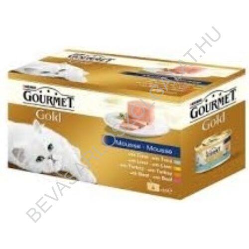 Gourmet Gold Macskaeledel Konzerv Pástétom 4 Féle Íz multipack 4x85 g