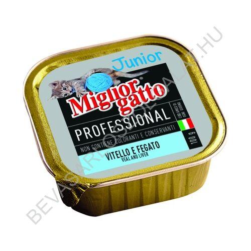 Miglior Gatto Professional Junior Macskaeledel Alutálkás Borjúval - Májjal konzerv 100 g