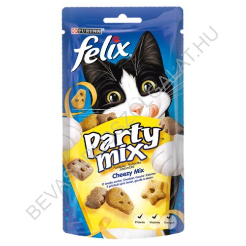 Felix Party Mix Jutalomfalat Macskáknak Cheezy Mix 60 g (#8)