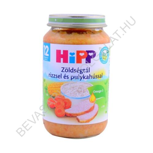 Hipp Bébiétel Zöldségtál Pulykahússal - 12 Hónapos kortól 220 g