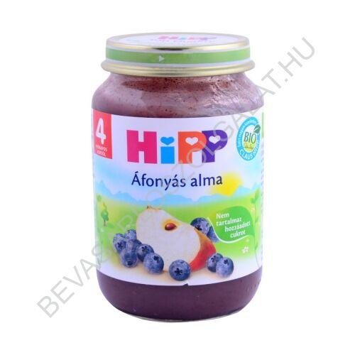 Hipp Bébiétel Áfonyás Alma - 4 hónapos kortól 190 g