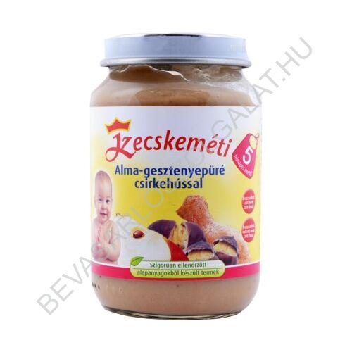 Kecskeméti Bébiétel Gesztenyepüré Alma- Csirkehússal - 5 hónapos kortól 190 g
