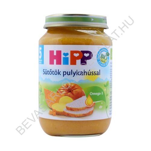 Hipp BIO Bébiétel Sütőtök Pulykahússal - 5 hónapos kortól 190 g