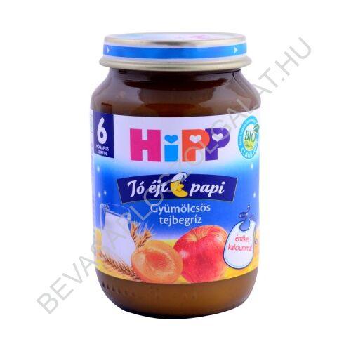 Hipp BIO Jó Éjt Papi Tejbegríz Gyümölcsös - 6 hónapos kortól 190 g