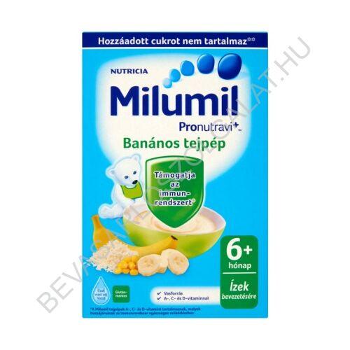 Milupa Milumil Tejpép Banános - 6 hónapos kortól 225 g