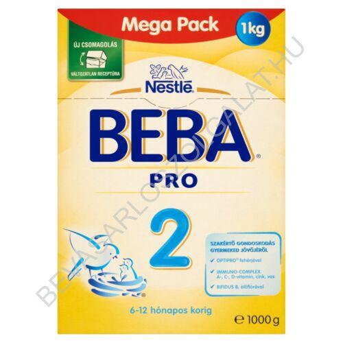Nestlé Beba Pro 2 Tejalapú Anyatej-kiegészítő Tápszer - 6-12 hó 1000 g