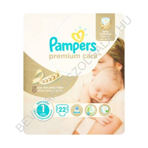 Pampers Premium Care Pelenka Newborn (1) 2-5 kg 22 db