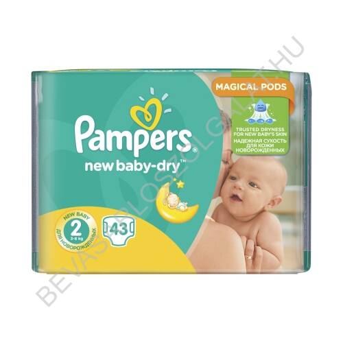 Pampers New Baby Pelenka (2) 4-8 kg 43 db