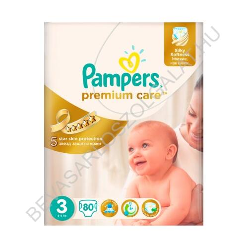 Pampers Premium Care Pelenka Midi (3) 4-9 kg 80 db