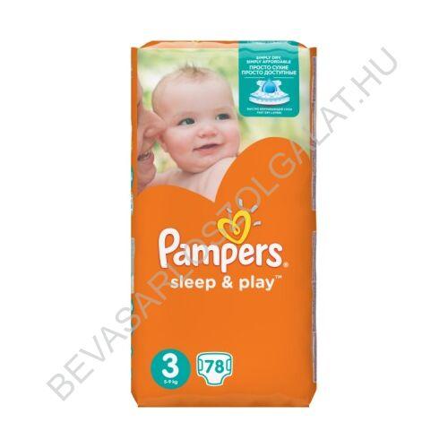 Pampers Sleep & Play Pelenka Midi (3) 6-10 kg 78 db