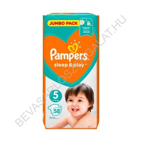 Pampers Sleep & Play Pelenka Junior (5) 11-16 kg 58 db