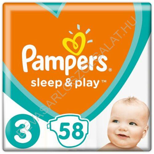 Pampers Sleep & Play Pelenka Midi (3) 6-10 kg 58 db