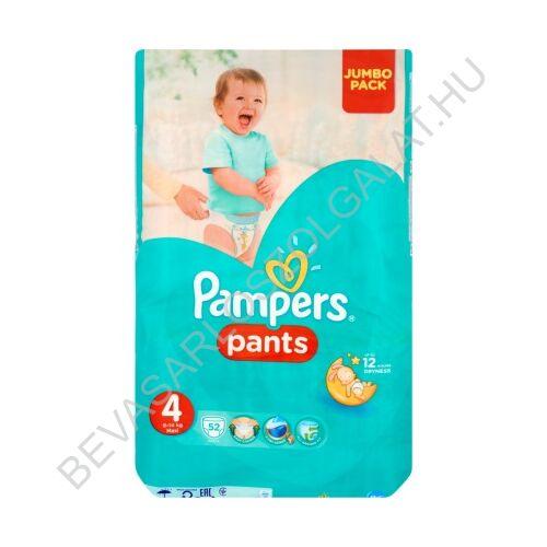 Pampers Pants Bugyipelenka Méret: (4) 9-14 kg 52 db