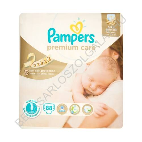 Pampers Premium Care Pelenka Newborn (1) 2-5 kg 88 db