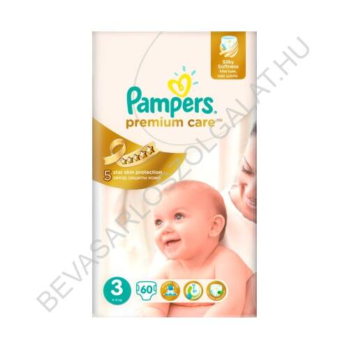 Pampers Premium Care Pelenka Midi (3) 5-9 kg 60 db