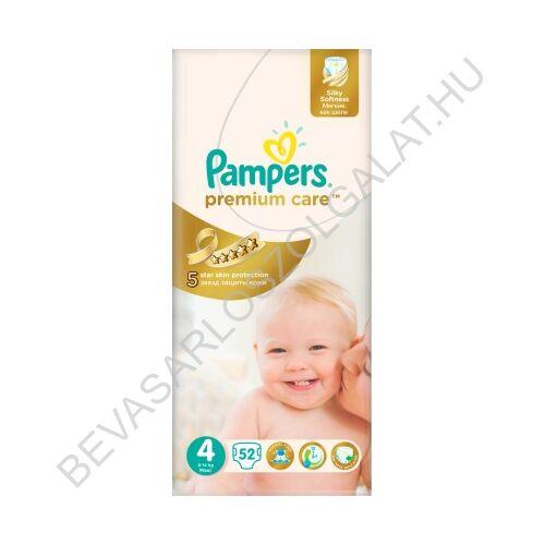 Pampers Premium Care Pelenka Maxi (4) 9-14 kg 52 db