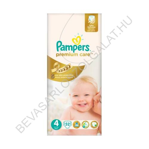 Pampers Premium Care Pelenka Maxi (4) 8-14 kg 52 db