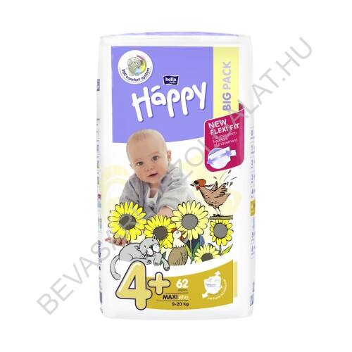 Bella Baby Happy Pelenka Maxi Plus (4+) 9-20 kg 62 db