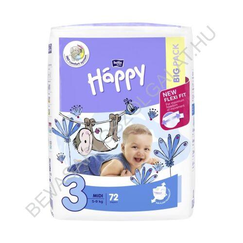 Bella Baby Happy Pelenka Midi (3) 5-9 kg 72 db