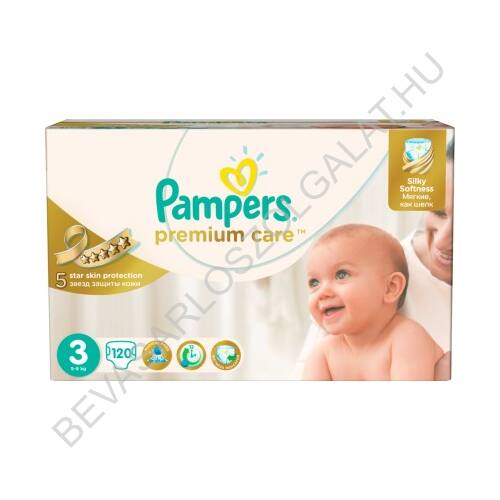 Pampers Premium Care Pelenka Midi (3) 5-9 kg 120 db