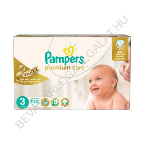 Pampers Premium Care Pelenka Midi (3) 5-9 kg 120 db