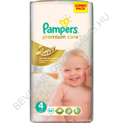 Pampers Premium Care Pelenka Maxi (4) 8-14 kg 66 db