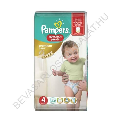Pampers Pants Premium Care Bugyipelenka Méret: (4) 8-14 kg 44 db