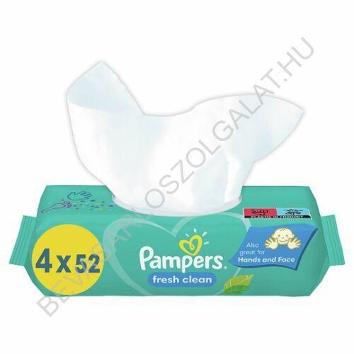 Pampers Fresh Clean Törlőkendő utántöltő quattropack 4x52 db = 208 db