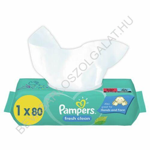 Pampers Fresh Clean Törlőkendő utántöltő XXL 80 db