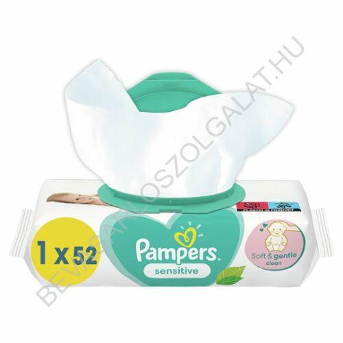 Pampers Sensitive Törlőkendő 52 db