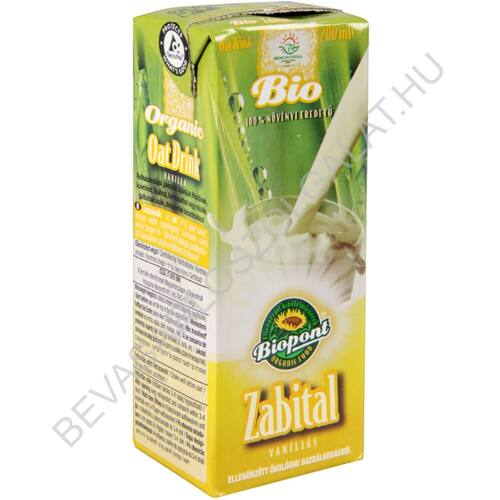 Biopont Bio Zabital Vaníliás UHT szívószálas 200 ml