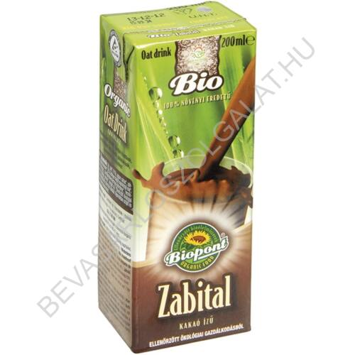 Biopont Bio Zabital Kakaó Ízű UHT szívószálas 200 ml