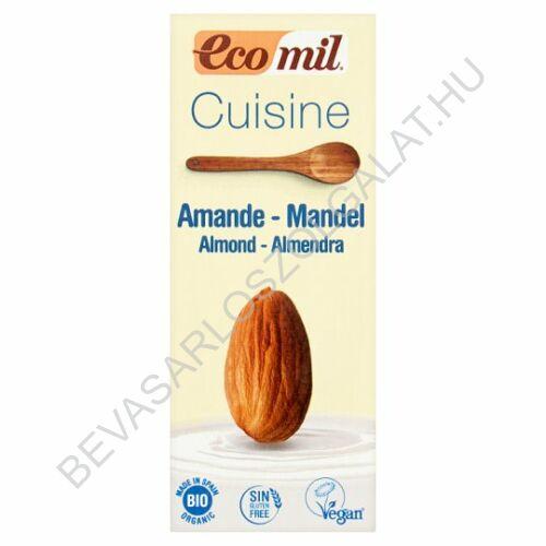 Ecomil Bio Növényi Tejszín Mandulás tetradobozos 200 ml