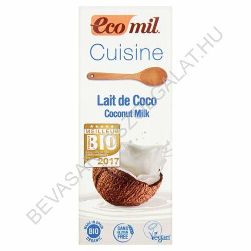 Ecomil Bio Kókusztejszín Kókusztejjel tetradobozos 200 ml
