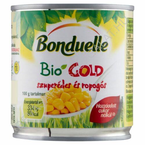 Bonduelle Bio Gold Morzsolt Csemege Kukorica konzerv tépőzáras 150/140 g (#12)
