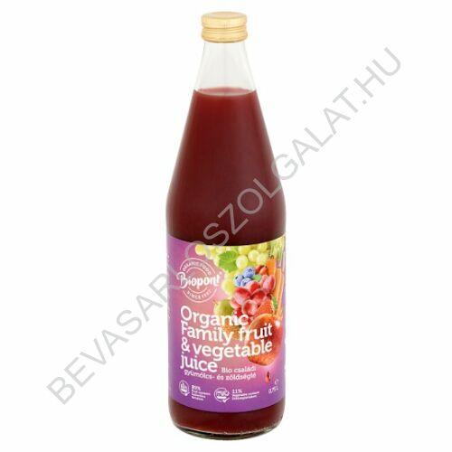 Biopont Bio Családi Gyümölcs- és Zöldséglé üveges 750 ml