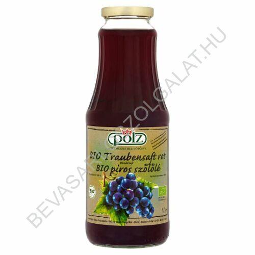 Pölz Bio Piros Szőlőlé 100% üveges 1 l