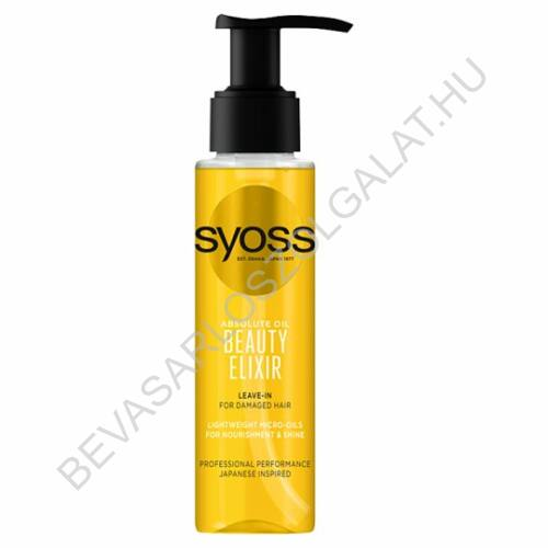 Syoss Beauty Elixir Absolute Oil Hajolaj Sérült Hajra pumpás 100 ml