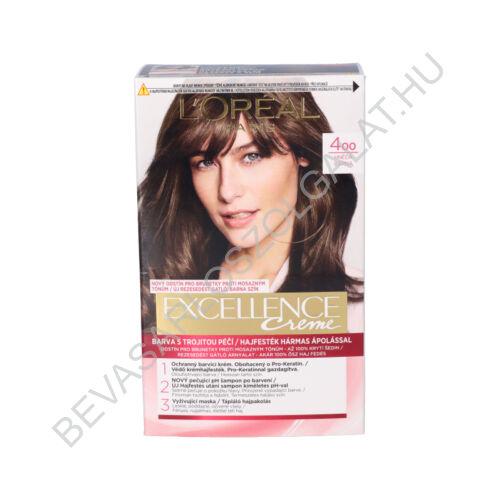 L'oréal Paris Excellence Creme Barna Hajfesték (400)