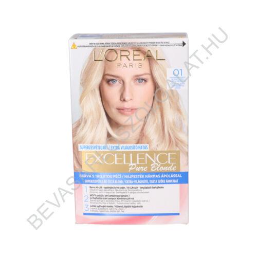 L'oréal Paris Excellence Pure Blonde Extra Világos, Természetes Szőke Hajfesték  (01)