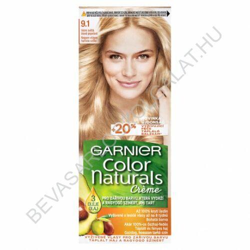 Garnier Color Naturals Créme Nagyon Világos Szőke Hajfesték (9.1)