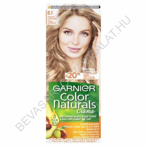 Garnier Color Naturals Créme Világos Platinaszőke Hajfesték (8.1)