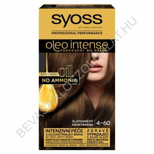 Syoss Oleo Intense Hajfesték 4-60 Aranybarna